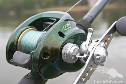 The new paint job and reel closeup