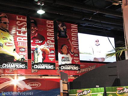 Berkley booth big screen