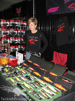 Lobina lures Tackle Warehouse booth
